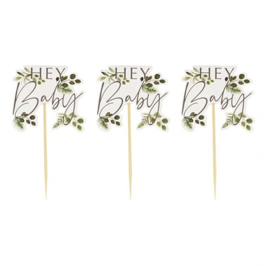Hey Baby - Cup Cake Toppers 12pk