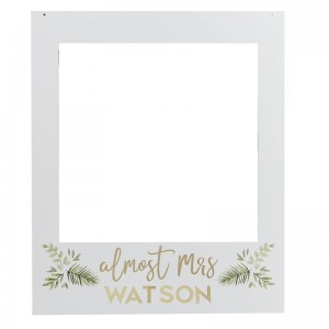 Personalised 'Almost Mrs' Hen Party Selfie Frame