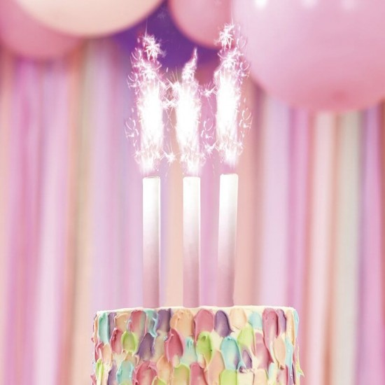 Cake Fountain Candles - Pink Ombré
