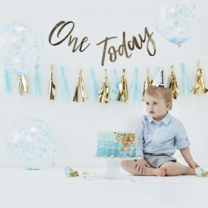Cake Smash Kit - Blue First Birthday
