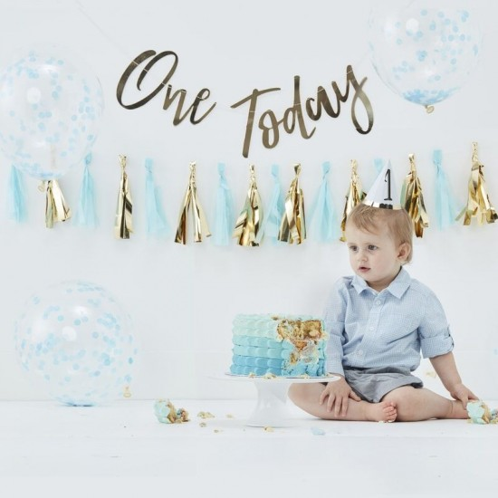 Cake Smash Kit - Blue First Birthday