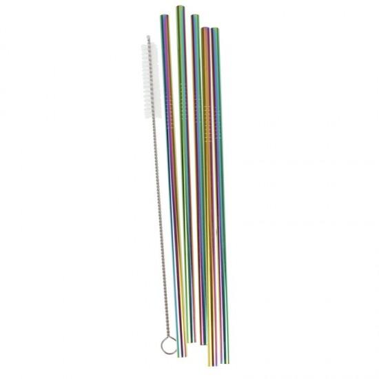 Rainbow Stainless Steel Straws