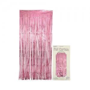 Foil Curtain - Light Pink