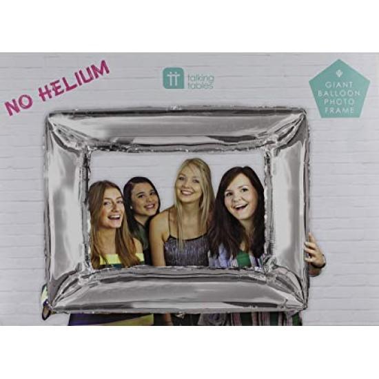 Foil Balloon Silver Photo Frame