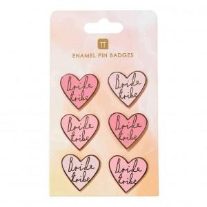 Bride Tribe Enamel Pin Badges