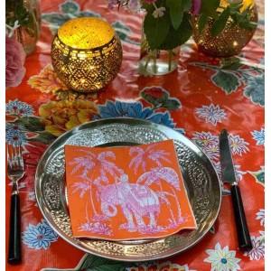 Orange Boho Elephant Napkins