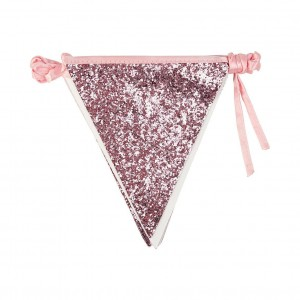 Pink Glitter Bunting 3m