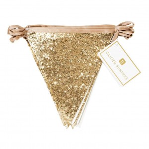 Gold Glitter Bunting 3m