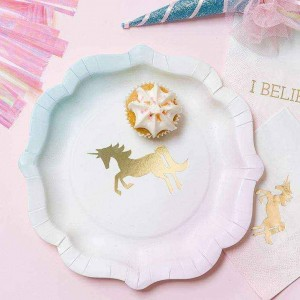 Unicorn Pastel Paper Plates