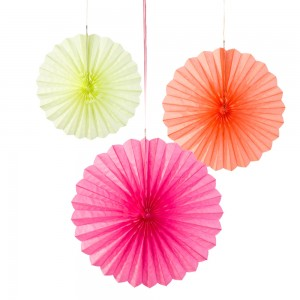 Trio Paper Fan - Fluorescent