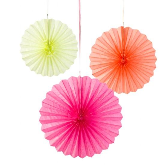 Trio Paper Fan - Fluorescent