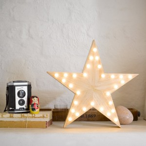 Wooden Star Light