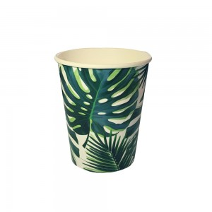 Tropical Leafy Paper Cups