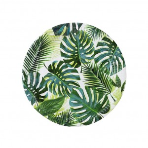 Tropical Leafy Paper Plates
