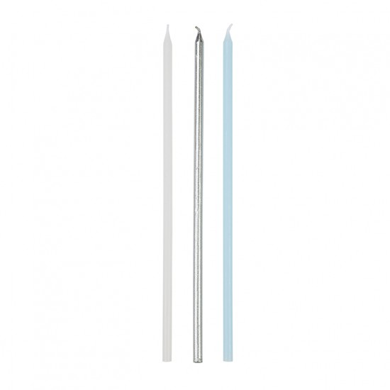Birthday Candles - Tall Mixed Blue