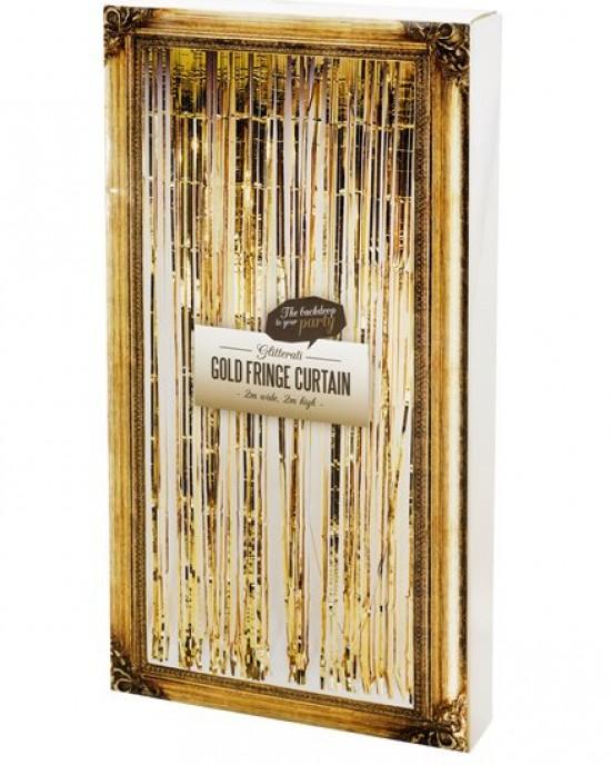 Glitterati Gold Foil Curtain