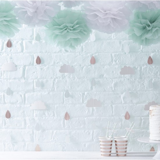 Baby Shower - Rose Gold & Clouds Backdrop