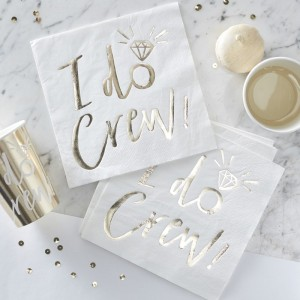 'I Do Crew' Gold Foiled Napkins