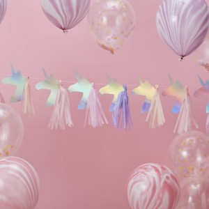 Unicorn Tassel Garland Iridescent