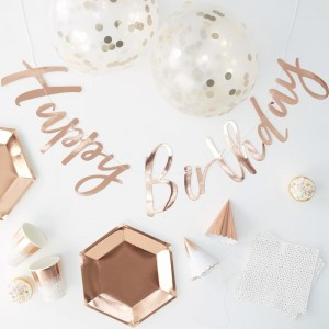 Party in a Box! Rose Gold Themed Birthday For 16