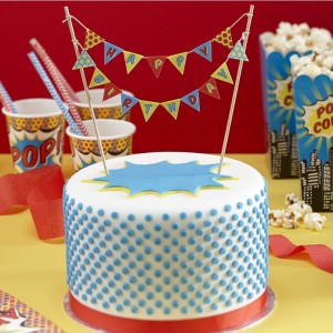 Superhero Party Cake Bunting