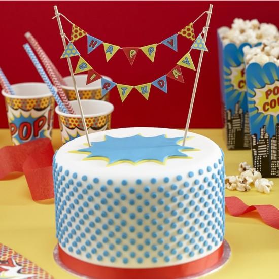 Superhero Party Cake Bunting