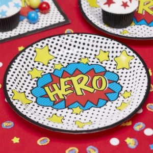 Superhero Party Paper Plates