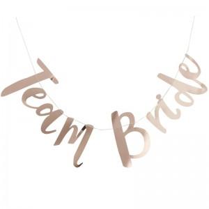 Rose Gold Banner 'Team Bride'