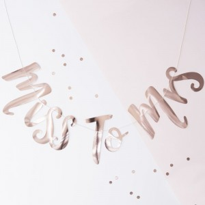 Miss to Mrs - Rose Gold Backdrop Bunting