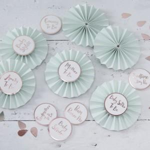 Baby Shower - Mint & Rose Gold Badges