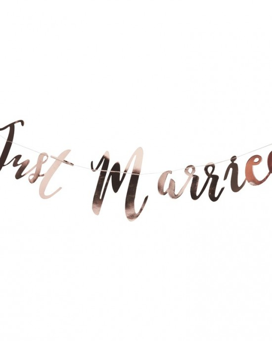 'Just Married' Rose Gold Bunting