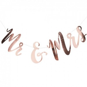 'Mr & Mrs' Rose Gold Bunting