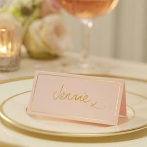 Pink & Gold Foiled Place Cards