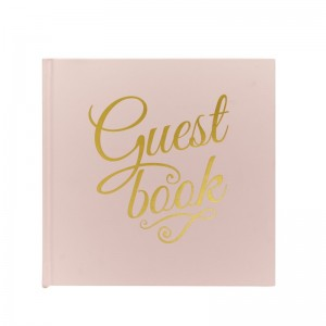 Pink & Gold Foiled Guest Book