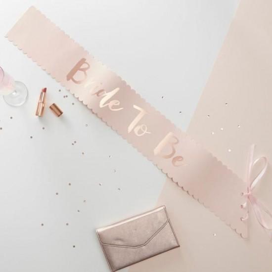 Bride To Be - Pink & Rose Gold Sash