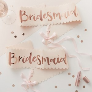 Bridesmaid Twin Pack - Pink & Rose Gold