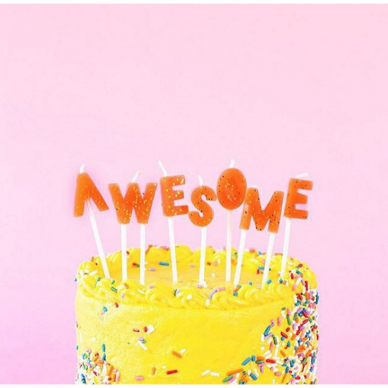 'Awesome' Birthday Candles