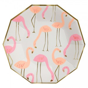 Fancy Flamingo Large Paper Plates