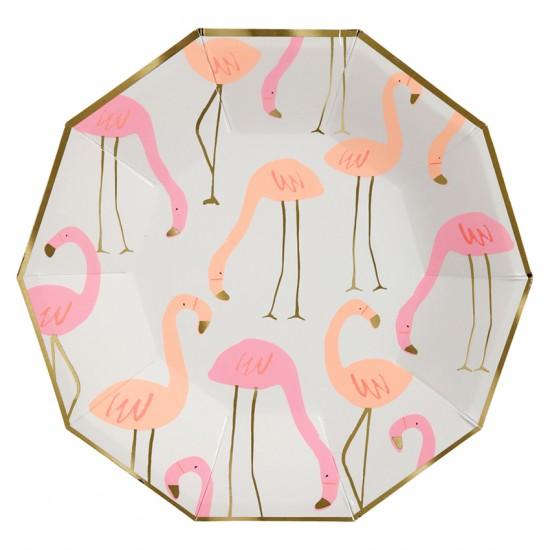 Fancy Flamingo Large Paper Plates