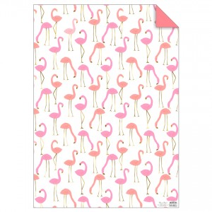 Gift Wrap - Flamingo 1 Sheet