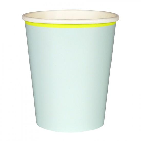 Mint Pastel Paper Cups