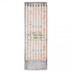 Birthday Candles Multi Fleck Tall
