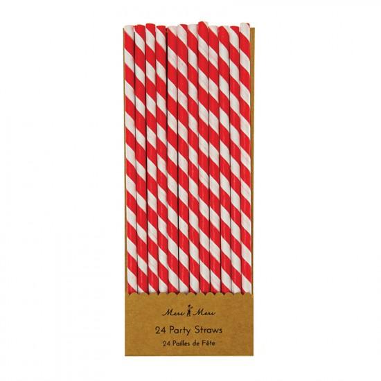 Red Striped Straws