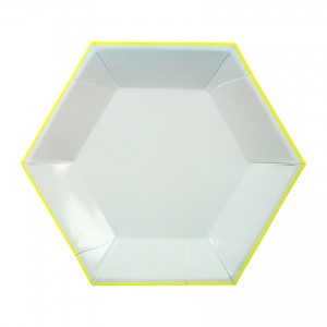 Hexagon Mint Paper Plated Small