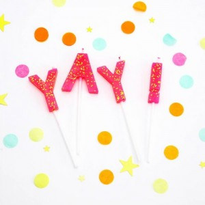 'Yay' Birthday Candles